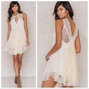 NWOT Free People Don't You Dare Mini Dress Sz S